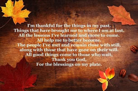 Thanksgiving Poems 2016